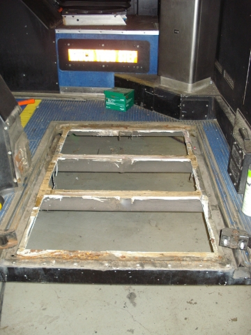 Existing frame visible after old ramp removed.