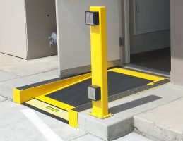 The ACW7 can be set into the slab or raised area outside an entry door.
