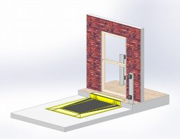 The ACW8 can be set into or abut to the single-step of an exterior door.