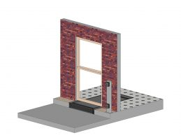The ACW7 can be set into the doorway with the leading edge replacing the single step outside the door.