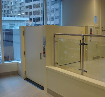 Accessor III providing access to a Mezzanine in a corporate office